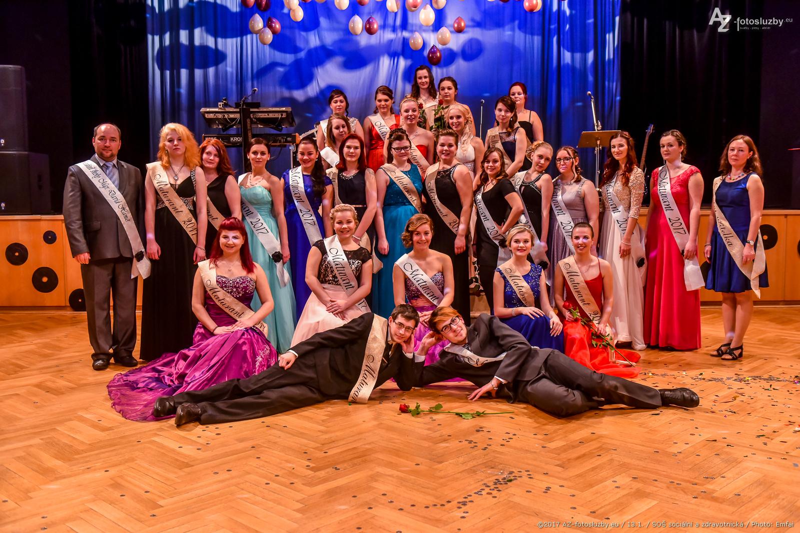 Focení maturitních plesů 2017