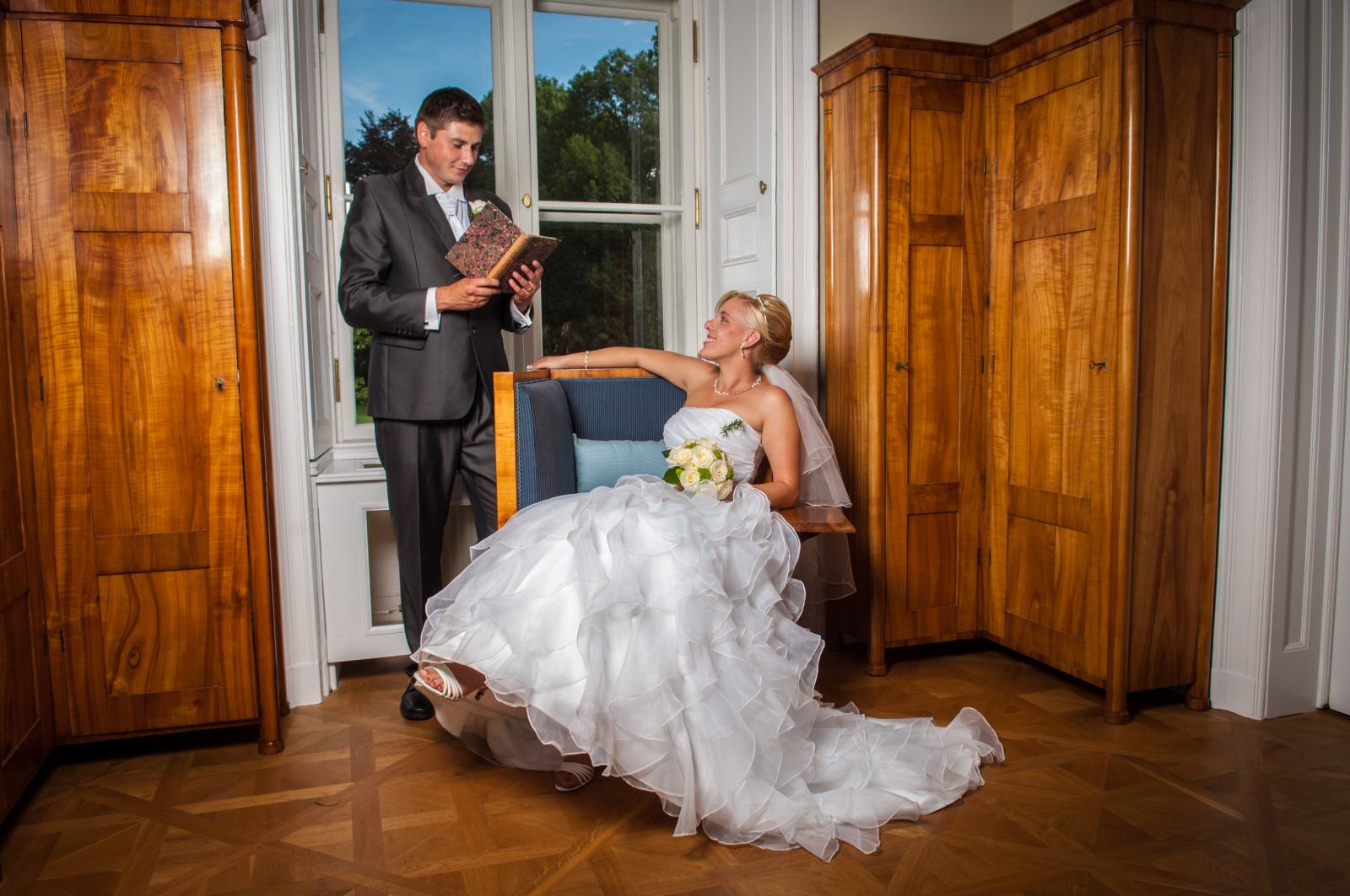 Focení svatby uvnitř