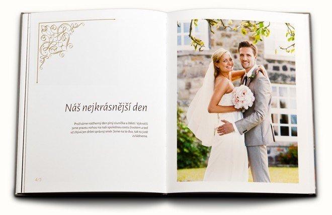 svatební fotokniha ilustrační fotografie