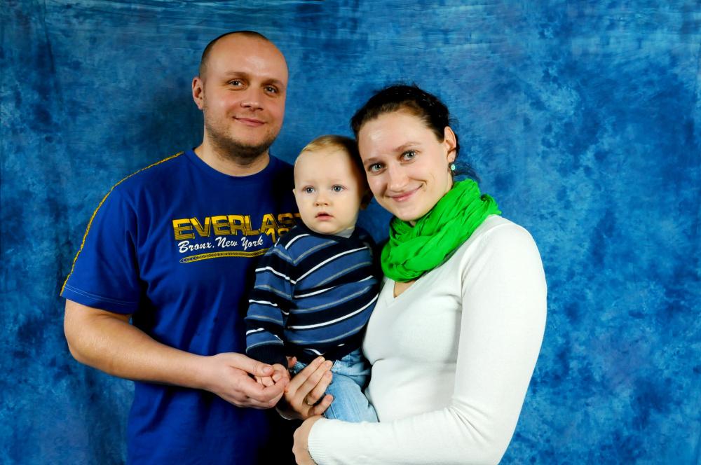 Rodiná fotka z našeho fotokoutku na svatebním veletrhu